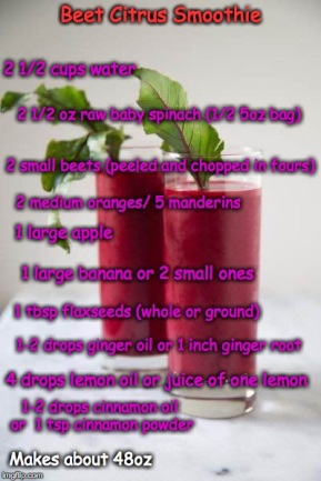 Beet Citrus Smoothie