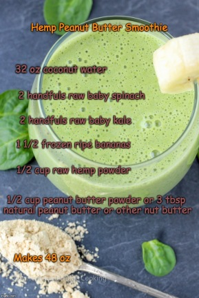 Peanut Butter Hemp Smoothie